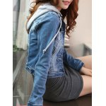Detachable Hooded Short Buttoned Jacket deal