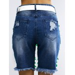 Fashionable Sequined Denim Ripped Shorts Women for sale