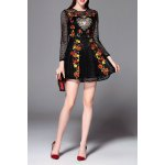 Floral Embroidered Openwork Mini Dress deal