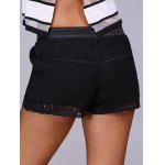 Fashion Black Drawstring Lace Shorts For Women for sale
