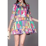 Printed Oversize Dress