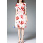 Floral Print Knee Length Dress deal