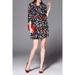 Print Belted Mini Dress for sale