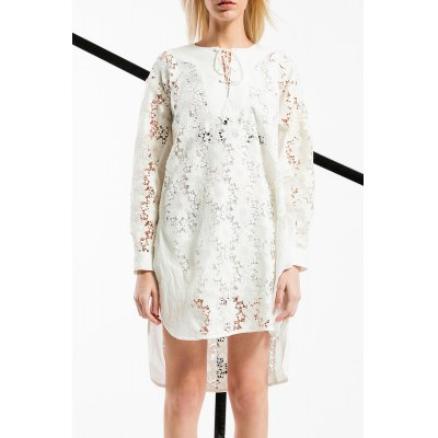 Lace-Up Hollow Out Dress