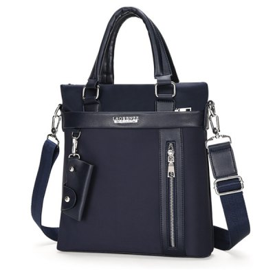 Stylish Splicing and Zippers Design Briefcase For Men