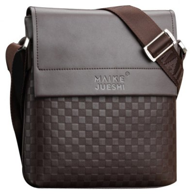 Covered Closure Design Messenger Bag For Men