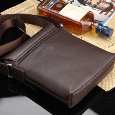Casual Checked and Covered Closure Design Messenger Bag For Men