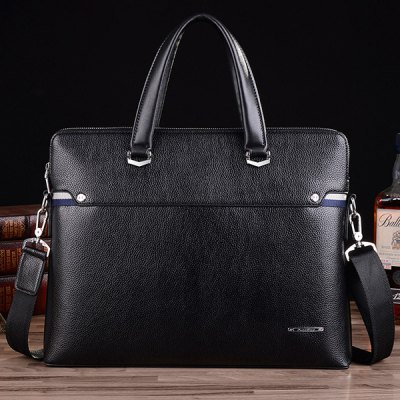 Concise Dark Color and PU Leather Design Briefcase For MenMens Bags<br>Concise Dark Color and PU Leather Design Briefcase For Men<br><br>Gender: For Men<br>Style: Fashion<br>Closure Type: Zipper<br>Pattern Type: Solid<br>Height: 30CM<br>Length: 38CM<br>Width: 6CM<br>Main Material: PU<br>Weight: 1.200kg<br>Package Contents: 1 x Briefcase