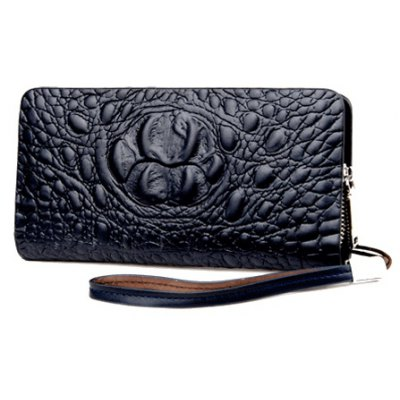 Fashion Dark Color and Embossing Design Wallet For Women