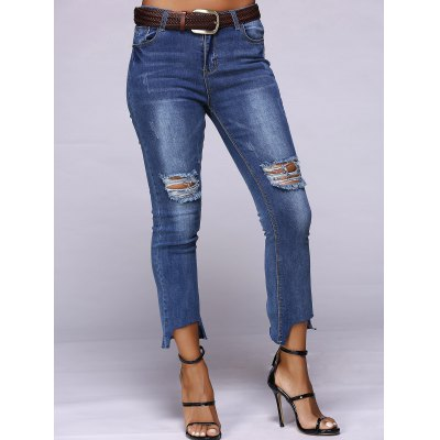 Stylish Women's Slimming Ripped Jeans
