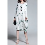 Long Sleeve Loose Wash Painting Dress deal
