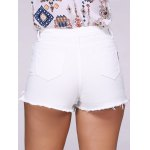 Fashionable Ripped Solid Color Women's Denim Shorts deal