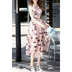 Butterfly Print Midi Dress for sale