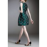 cheap Beetle Embroidered Mini Ball Dress