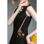 Floral Embroidered Flared Dress for sale