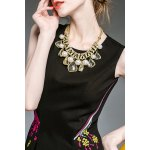 Floral Embroidered Flared Dress deal