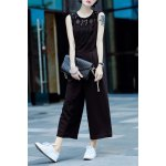 Lace Panel Sleeveless Jumpsuit