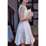 cheap Beaded Solid Color Sleeveless Dress