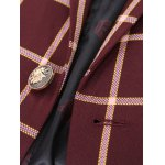Checked Lapel Long Sleeve One Button Design Blazer For Men for sale