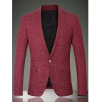 Solid Color Lapel Long Sleeve One Button Design Blazer For Men