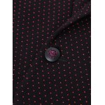 best Polka Dot Lapel Long Sleeve Single Breasted Blazer For Men
