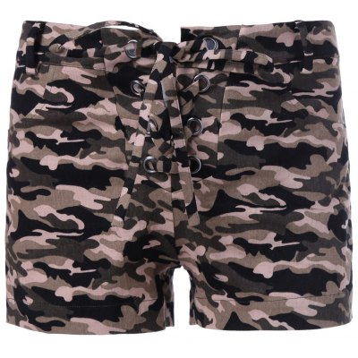 Camouflage Print Shorts