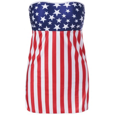 American Flag Bandeau Cover Up