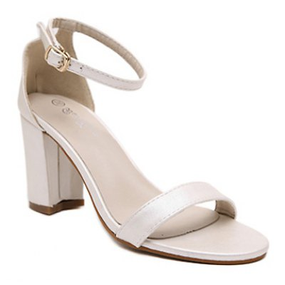 Concise Chunky Heel and Ankle Strap Design Sandals For Women