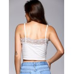 Front Strappy Laciness Splicing Crop Top for sale