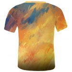Cool Fire Fox 3D Printed Slimming Round Neck Short Sleeves T-Shirt For Men deal