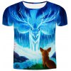 Hot Sale Round Neck 3D Animal Printing Slimming Short Sleeves T-Shirt For Men