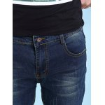 Cat's Whisker Print Zipper Fly Jeans For Men photo