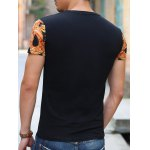 National Style V-Neck Abstract Pattern Slimming Short Sleeves T-Shirt For Men deal
