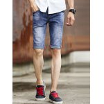Cat's Whisker Print Solid Color Shorts For Men