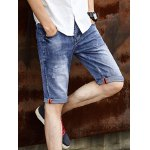 cheap Cat's Whisker Print Solid Color Shorts For Men
