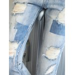 best Chic Back Pocket Ripped Denim Ninth Pants For Women