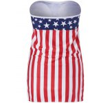 cheap American Flag Bandeau Cover Up