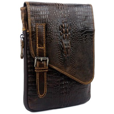 Fashion Crocodile Print and Cover Design Mens Messenger BagMens Bags<br>Fashion Crocodile Print and Cover Design Mens Messenger Bag<br><br>Gender: For Men<br>Pattern Type: Patchwork<br>Closure Type: Zipper<br>Main Material: PU<br>Length: 16CM<br>Width: 2CM<br>Height: 22CM<br>Weight: 0.404kg<br>Package Contents: 1 x Messenger Bag