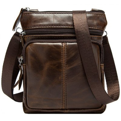 Casual Zip and Stitching Design Messenger Bag For Men