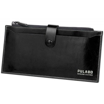Fashion Magnetic Closure and Zip Design Wallet For Men