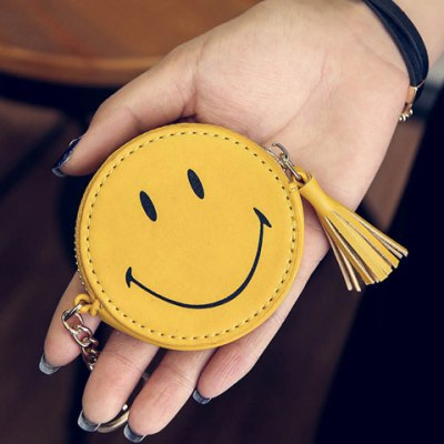 Cute Smiling Face and Tassels Design Coin Purse For Women