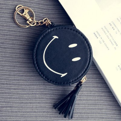 Cute Smiling Face and Tassels Design Coin Purse For WomenCoin Purse &amp; Card Holder<br>Cute Smiling Face and Tassels Design Coin Purse For Women<br><br>Gender: For Women<br>Style: Casual<br>Closure Type: Zipper<br>Pattern Type: Others<br>Main Material: PU<br>Length: 8CM<br>Width: 2.5CM<br>Height: 8CM<br>Weight: 0.500kg<br>Package Contents: 1 x Coin Purse