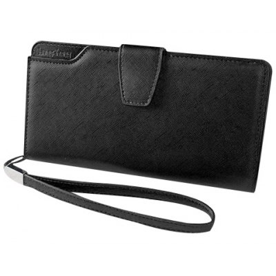 Magnetic Closure Design Clutch Wallet For Women