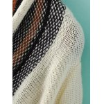 Fashion Long Sleeve Color Block Striped Cardigan For Women deal