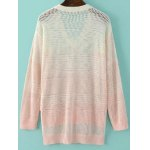 cheap Fashion V-Neck Ombre High Low Hem Sweater For Women