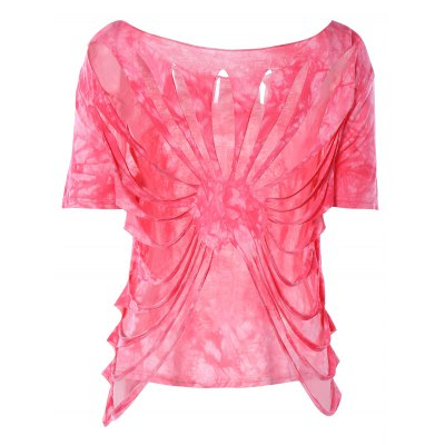 Stylish Round Neck Tie-Dyed Short Sleeves Top For WomenTees<br>Stylish Round Neck Tie-Dyed Short Sleeves Top For Women<br><br>Material: Spandex<br>Clothing Length: Regular<br>Sleeve Length: Short<br>Collar: Round Neck<br>Style: Fashion<br>Season: Summer<br>Pattern Type: Others<br>Weight: 0.370kg<br>Package Contents: 1 x Top