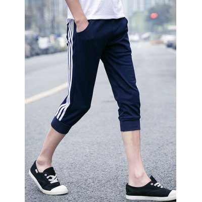Elastic Waist Stripes Embellishment Shorts For MenMens Shorts<br>Elastic Waist Stripes Embellishment Shorts For Men<br><br>Style: Casual<br>Length: Short<br>Material: Cotton,Polyester<br>Fit Type: Regular<br>Waist Type: Mid<br>Closure Type: Drawstring<br>Front Style: Flat<br>With Belt: No<br>Weight: 0.550kg<br>Package Contents: 1 x Shorts