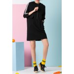Stripe Spliced Hoodie Dress deal
