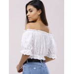 Off The Shoulder 3/4 Sleeve Crop Top Blouse for sale