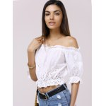 Fashionable Off-The-Shoulder 3/4 Sleeve Crop Top deal